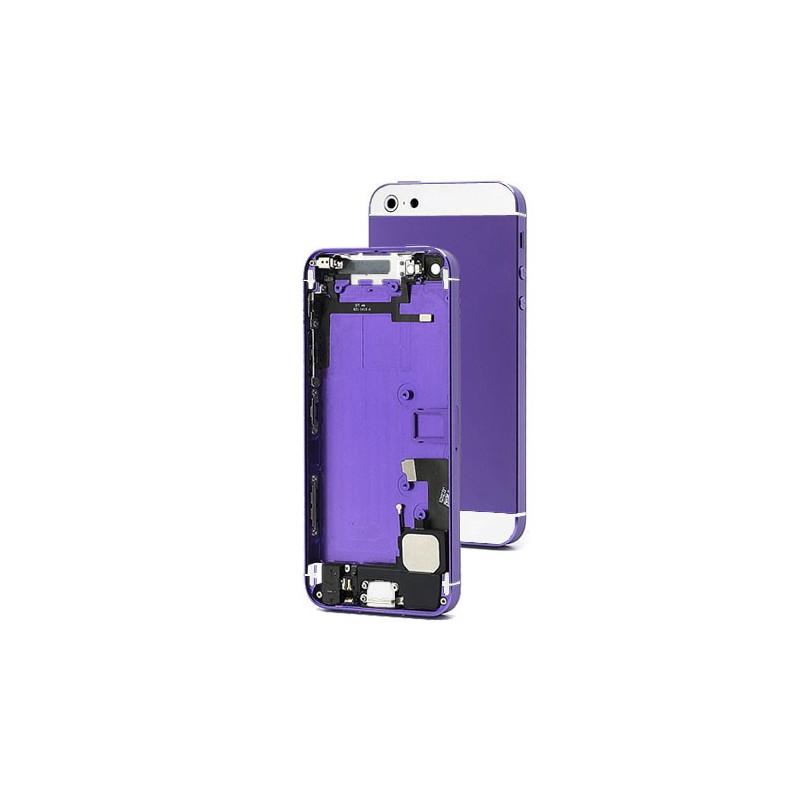 Chasis Completo iPhone 5 - Morado y Blanco