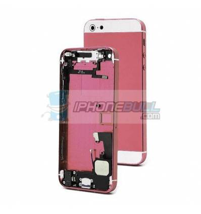 Chasis Completo iPhone 5 - Rosa y Blanco