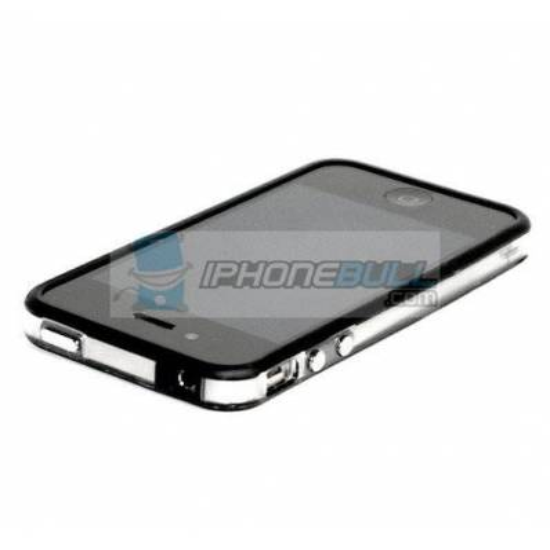 Bumper iPhone 4 4S - Negro Transparente