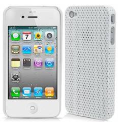 Carcasa Perforada iPhone 4 4S - Blanco