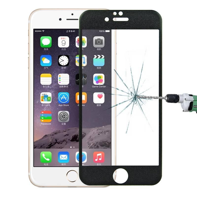 Protector pantalla fibra de carbono 3D iPhone 6 6s