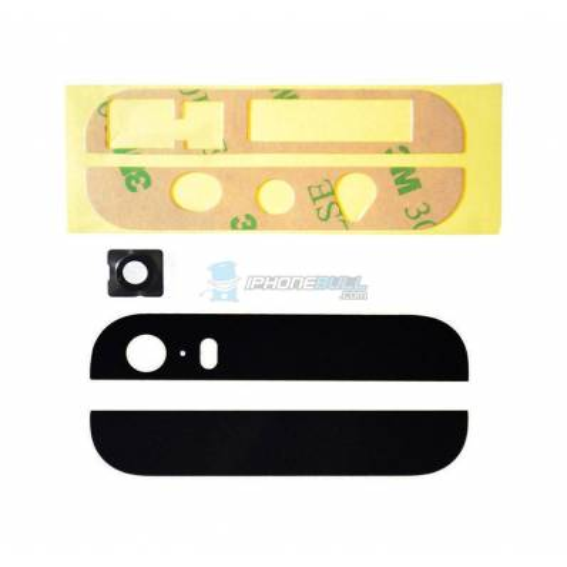 Cristal Trasero iPhone 5s - Negro