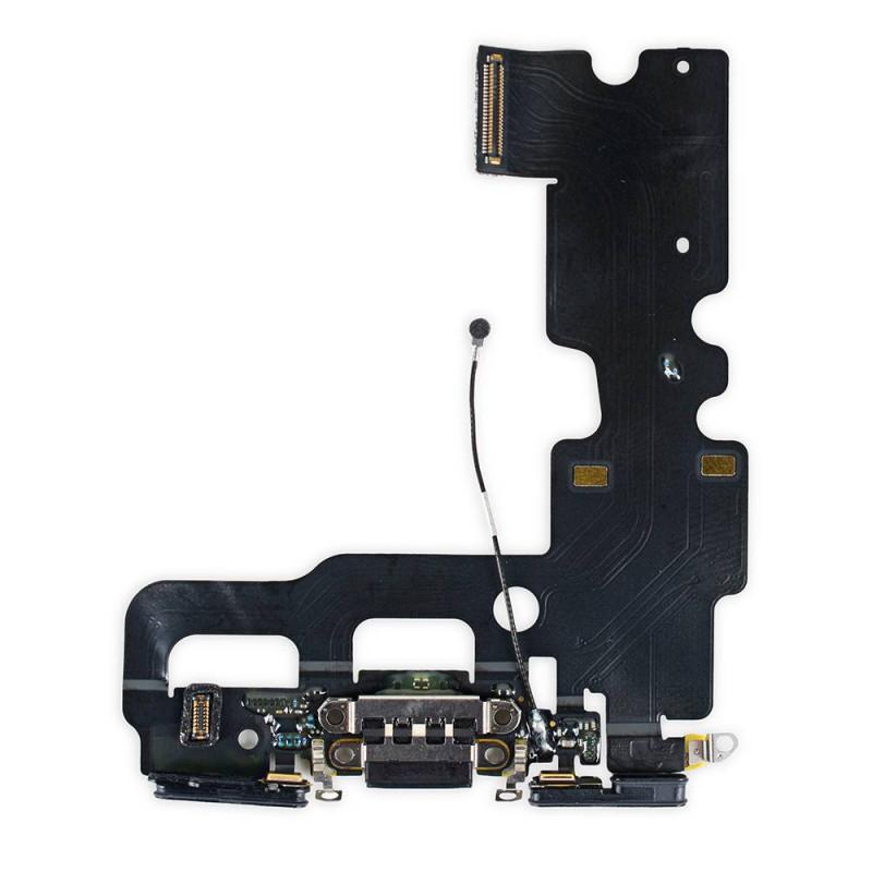 Flex Conector de carga microfono iPhone 7 (Negro)