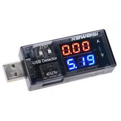 Voltimetro Amperimetro USB Keweisi