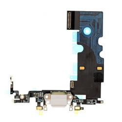 Flex Conector de carga microfono iPhone 8 (Blanco)