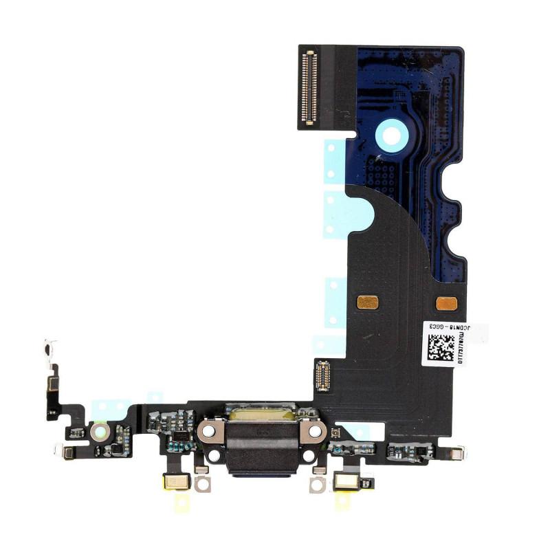 Flex Conector de carga microfono iPhone 8 (Negro)