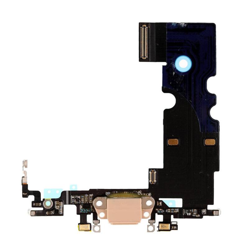 Flex Conector de carga microfono iPhone 8 (Oro)