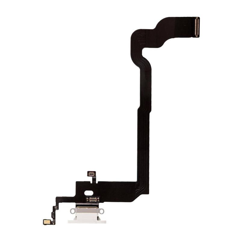 Flex Conector de carga microfono iPhone X (Blanco)