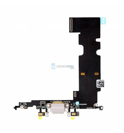 Flex Conector de carga microfono iPhone 8 Plus (Blanco)