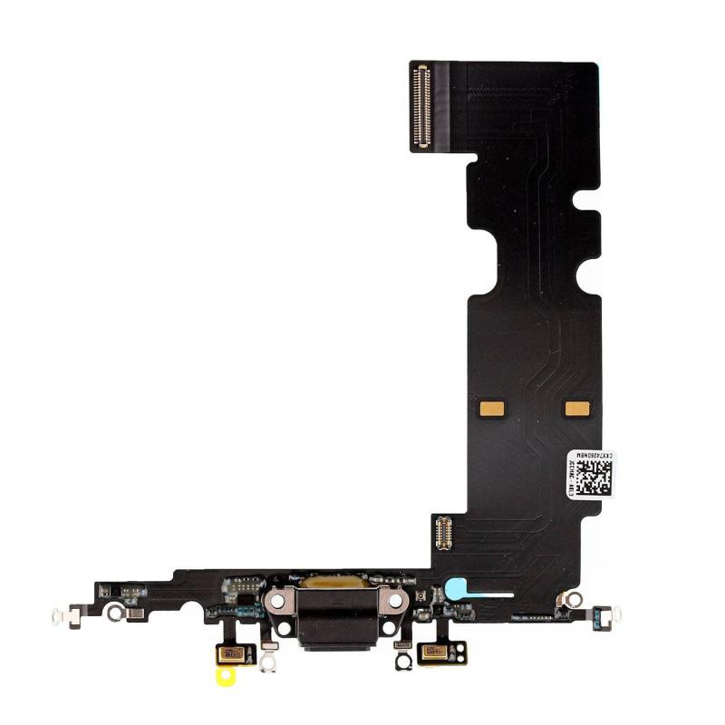 Flex Conector de carga microfono iPhone 8 Plus (Negro)