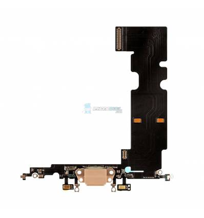 Flex Conector de carga microfono iPhone 8 Plus (Oro)