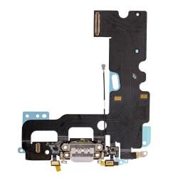 Flex Conector de carga microfono iPhone 7 (Gris Claro)