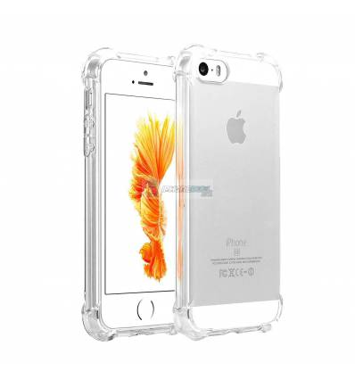 Carcasa Silicona Transparente Anti-Choque iPhone 5 5s SE