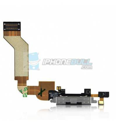 Conector Carga y Datos iPhone 4S - Negro