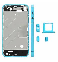 CHASIS METAL IPHONE 4 AZUL CLARO