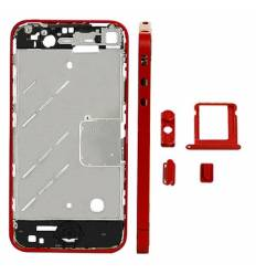 CHASIS METAL IPHONE 4 ROJO