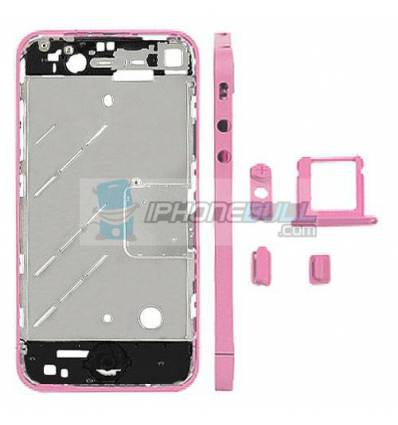 CHASIS METAL IPHONE 4 ROSA
