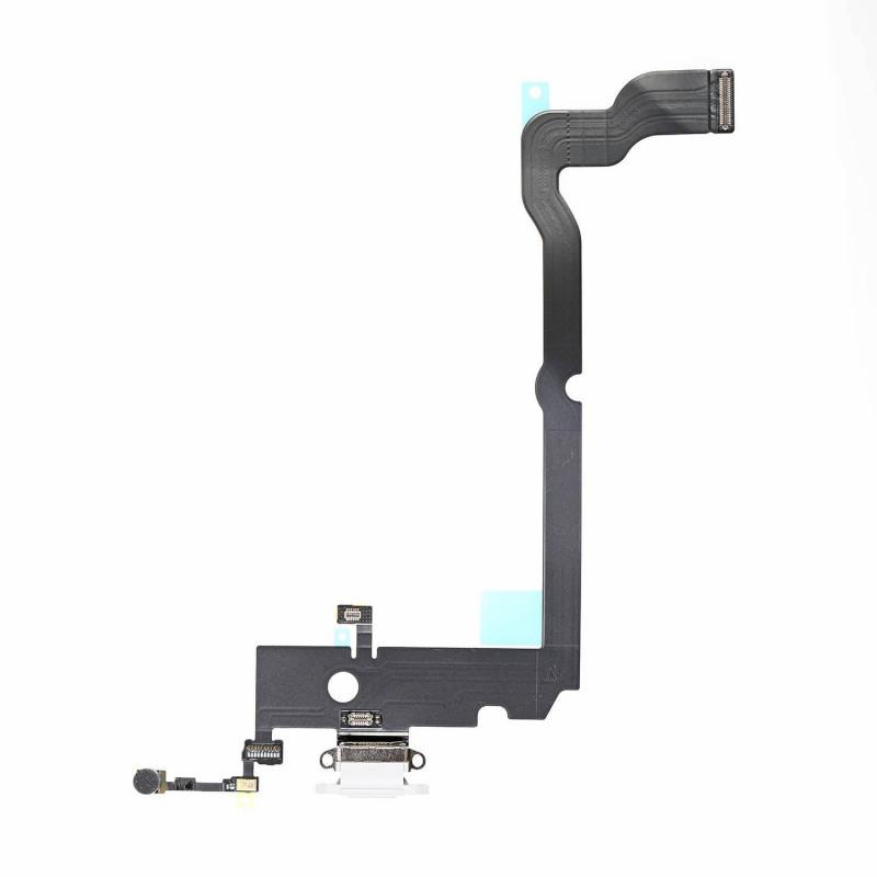 Flex Conector de carga microfono iPhone XS Max A2101 (Blanco)