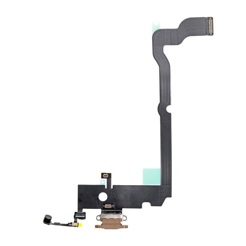 Flex Conector de carga microfono iPhone XS Max A2101 (Oro)