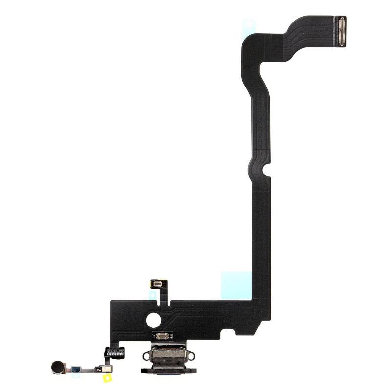 Flex Conector de carga microfono iPhone XS Max A2101 (Negro)