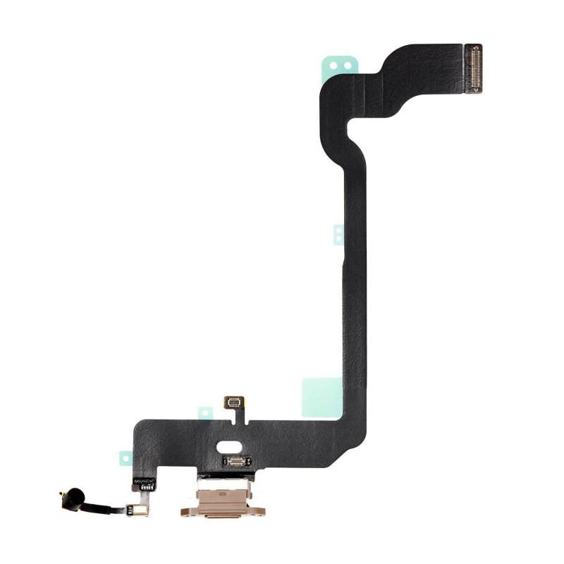 Flex Conector de carga microfono iPhone Xs A2097 (Oro)