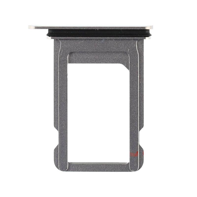 Porta SIM iPhone X A1901 - Plata