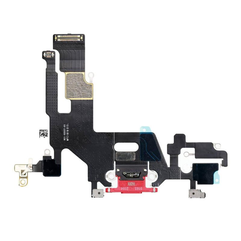 Flex Conector de carga microfono iPhone 11 A2221 (Rojo)