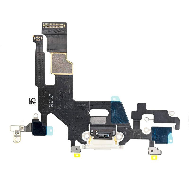 Flex Conector de carga microfono iPhone 11 A2221 (Blanco)