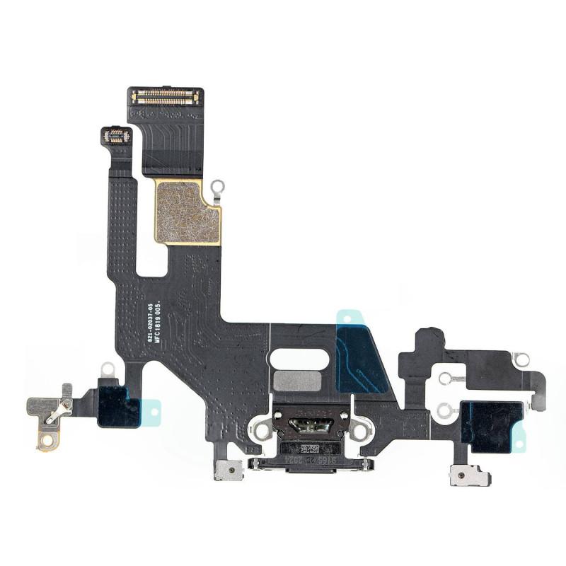 Flex Conector de carga microfono iPhone 11 A2221 (Negro)