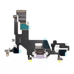 Flex Conector de carga microfono iPhone 11 A2221 (Purpura)