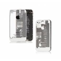 Tapa Trasera transpartente iPhone 4S - Blanca