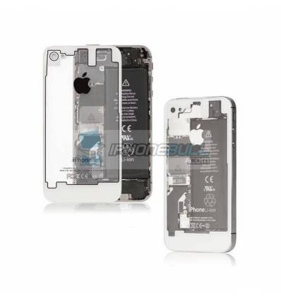 Tapa Trasera transpartente iPhone 4S - Blanca