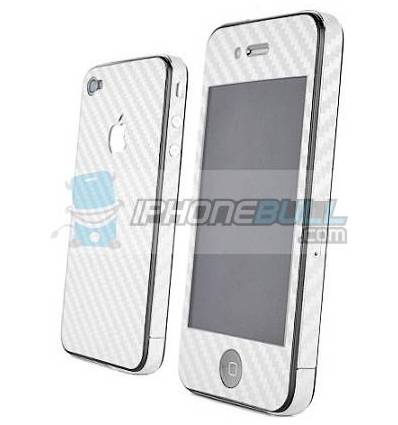 Skin Carbono iPhone 4 - Blanco