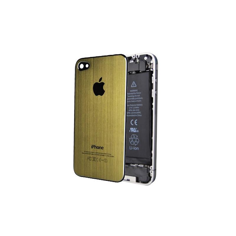 Tapa Trasera Metal Cepillado iPhone 4 -Oro