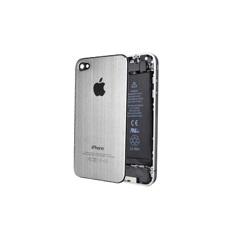 Tapa Trasera Metal Cepillado iPhone 4 - Plata
