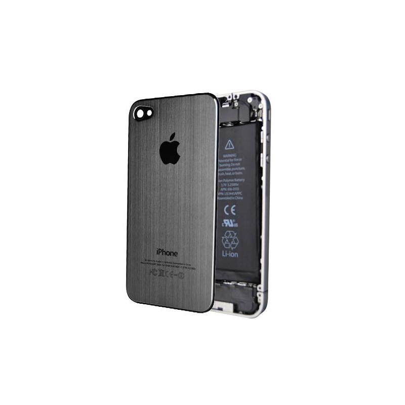 Tapa Trasera Metal Cepillado iPhone 4 - Gris
