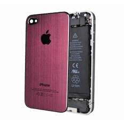 Tapa Trasera Metal Cepillado iPhone 4 - Rosa