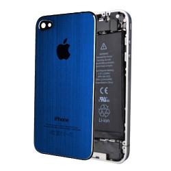 Tapa Trasera Metal Cepillado iPhone 4 - Azul