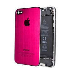 Tapa Trasera Metal Cepillado iPhone 4 - Rosa Oscuro