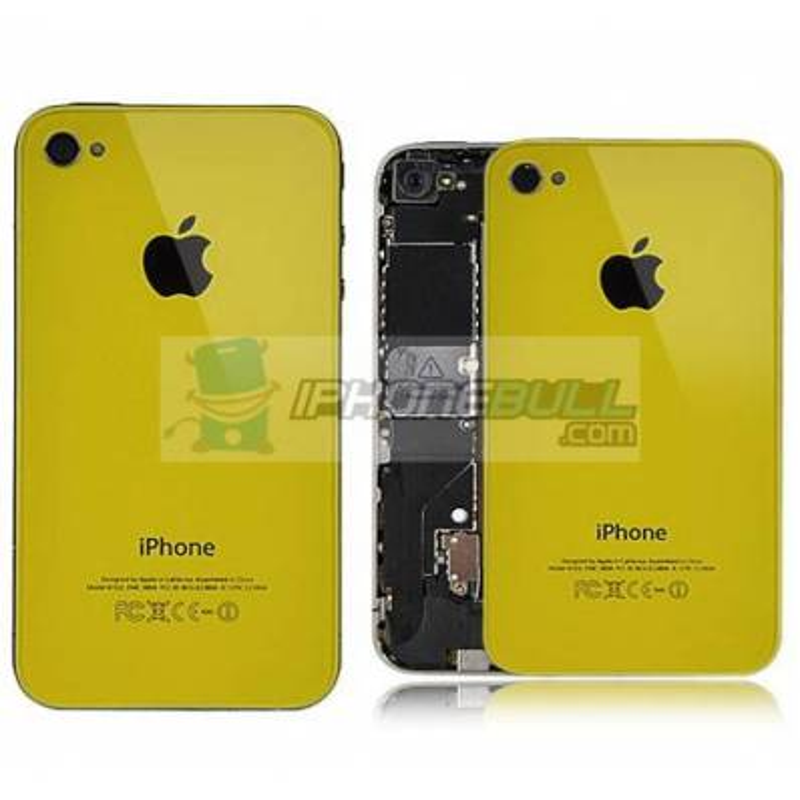Tapa Trasera iPhone 4 - Amarillo