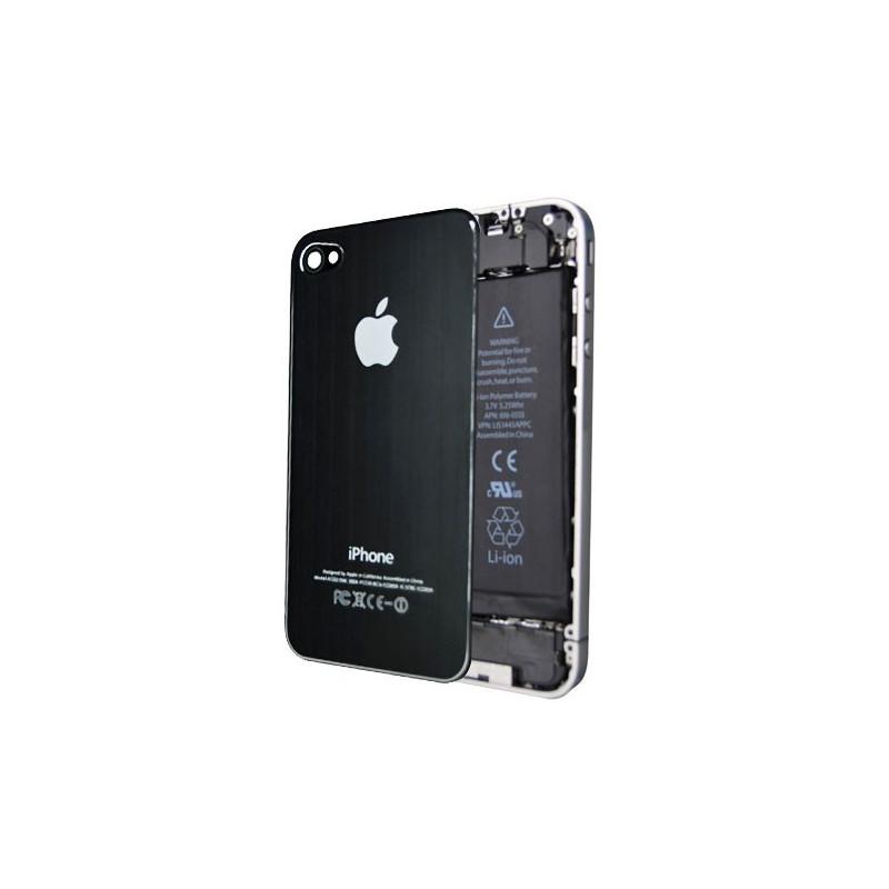 Tapa Trasera Metal Cepillado iPhone 4 - Negra