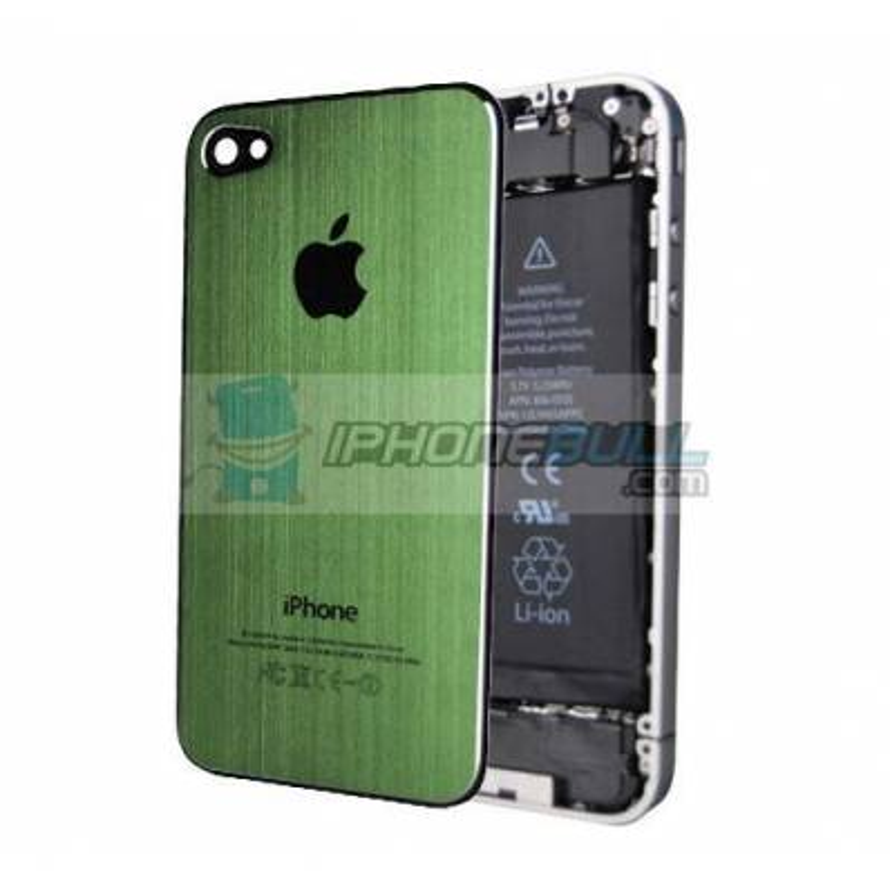 Tapa Trasera Metal Cepillado iPhone 4 - Verde