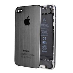 Tapa Trasera Metal Cepillado iPhone 4S - Gris