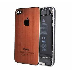 Tapa Trasera Metal Cepillado iPhone 4 - Naranja