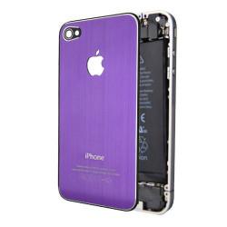Tapa Trasera Metal Cepillado iPhone 4 - Morado