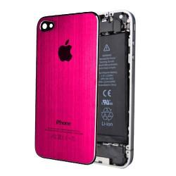 Tapa Trasera Metal Cepillado iPhone 4S - Rosa Oscuro