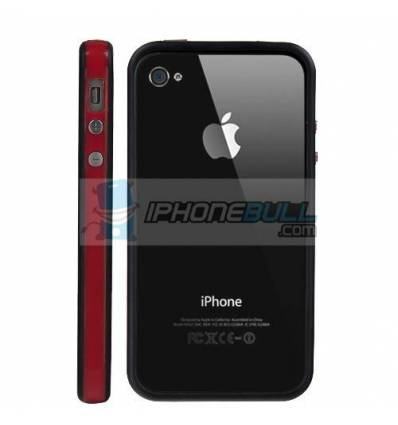 Bumper iPhone 4 4S - Rojo Negro