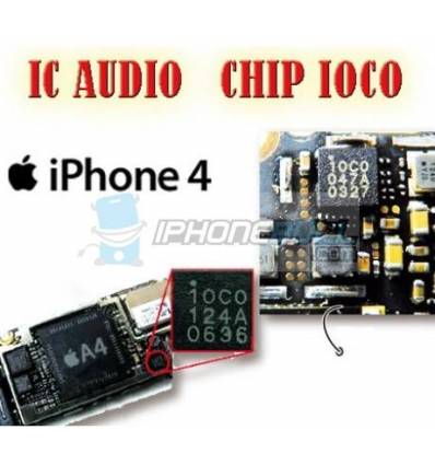 Chip IOCO 10c0 IC Audio MIC iPhone 4